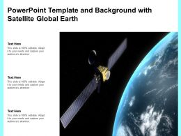 Powerpoint Template And Background With Satellite Global Earth
