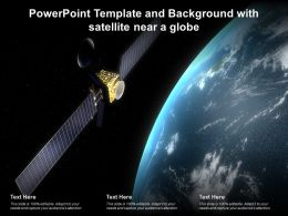 Powerpoint Template And Background With Satellite Near A Globe