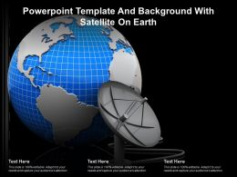 Powerpoint Template And Background With Satellite On Earth
