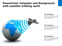 Powerpoint Template And Background With Satellite Orbiting Earth
