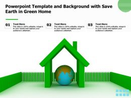 Powerpoint Template And Background With Save Earth In Green Home