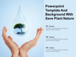 Powerpoint Template And Background With Save Plant Nature
