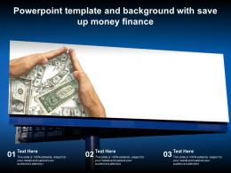 Powerpoint Template And Background With Save Up Money Finance