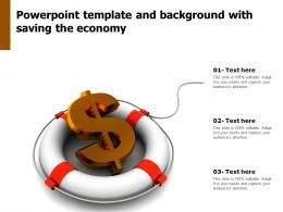 Powerpoint Template And Background With Saving The Economy