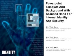 Powerpoint Template And Background With Scanned Hand For Internet Identity And Security