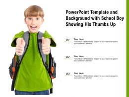 Powerpoint Template And Background With School Boy Showing His Thumbs Up