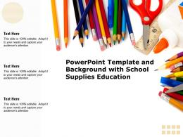 Powerpoint Template And Background With School Supplies Education