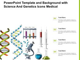 Powerpoint Template And Background With Science And Genetics Icons Medical