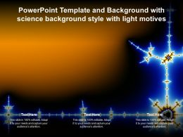 Powerpoint Template And Background With Science Background Style With Light Motives