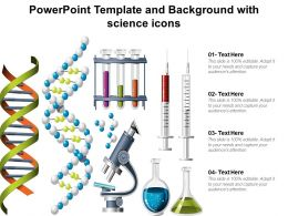 Powerpoint Template And Background With Science Icons
