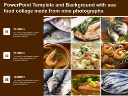 Powerpoint Template And Background With Sea Food Collage Made From Nine Photographs