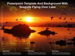 Powerpoint Template And Background With Seagulls Flying Over Lake