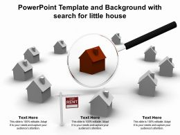 Powerpoint Template And Background With Search For Little House