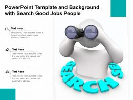 Powerpoint Template And Background With Search Good Jobs People