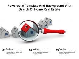 Powerpoint Template And Background With Search Of Home Real Estate