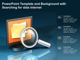 Powerpoint Template And Background With Searching For Data Internet