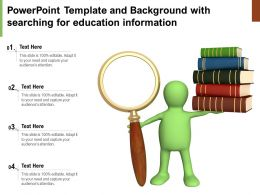 Powerpoint Template And Background With Searching For Education Information