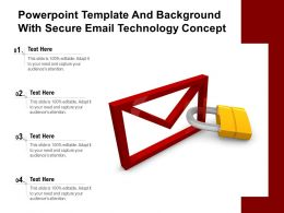 Powerpoint Template And Background With Secure Email Technology Concept