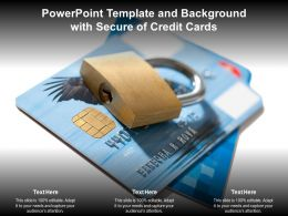 Powerpoint Template And Background With Secure Of Credit Cards