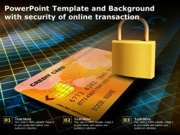Powerpoint Template And Background With Security Of Online Transaction