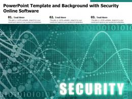 Powerpoint Template And Background With Security Online Software