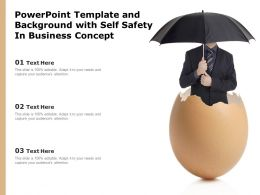 Powerpoint Template And Background With Self Safety In Business Concept