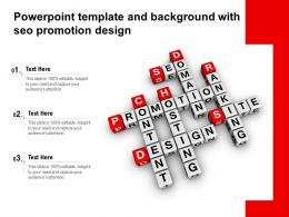 Powerpoint Template And Background With SEO Promotion Design