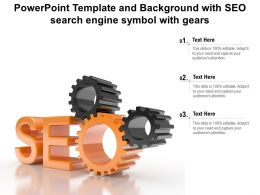 Powerpoint Template And Background With SEO Search Engine Symbol With Gears