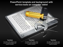 Powerpoint Template And Background With Service Tools On Computer Tablet
