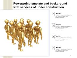 Powerpoint Template And Background With Services Of Under Construction