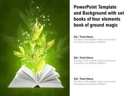 Powerpoint Template And Background With Set Books Of Four Elements Book Of Ground Magic