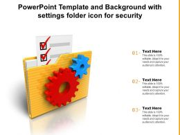 Powerpoint Template And Background With Settings Folder Icon For Security