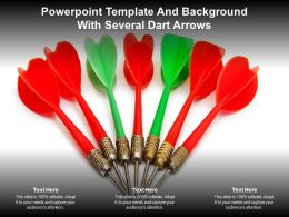 Powerpoint Template And Background With Several Dart Arrows