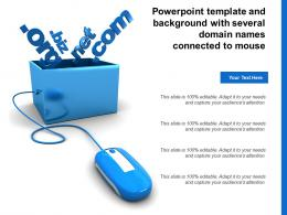 Powerpoint Template And Background With Several Domain Names Connected To Mouse