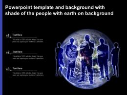 Powerpoint Template And Background With Shade Of The People With Earth On Background