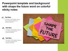 Powerpoint Template And Background With Shape The Future Word On Colorful Sticky Notes