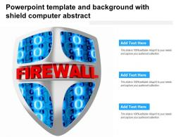 Powerpoint Template And Background With Shield Computer Abstract