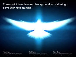 Powerpoint Template And Background With Shining Dove With Rays Animals