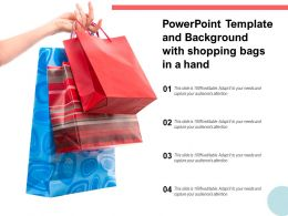 Powerpoint Template And Background With Shopping Bags In A Hand