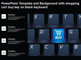 Powerpoint Template And Background With Shopping Cart Buy Key On Black Keyboard