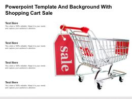 Powerpoint Template And Background With Shopping Cart Sale