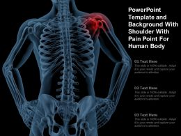 Powerpoint Template And Background With Shoulder With Pain Point For Human Body