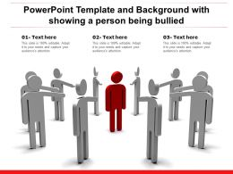 Powerpoint Template And Background With Showing A Person Being Bullied