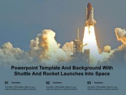 Powerpoint Template And Background With Shuttle And Rocket Launches Into Space