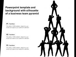 Powerpoint Template And Background With Silhouette Of A Business Team Pyramid