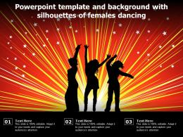 Powerpoint Template And Background With Silhouettes Of Females Dancing