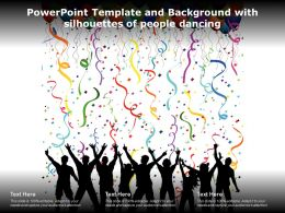 Powerpoint Template And Background With Silhouettes Of People Dancing