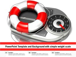 Powerpoint Template And Background With Simple Weight Scale