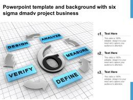 Powerpoint Template And Background With Six Sigma Dmadv Project Business