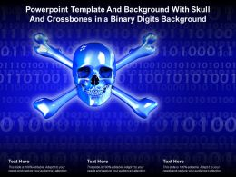 Powerpoint Template And Background With Skull And Crossbones In A Binary Digits Background